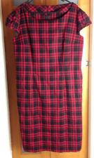 Rockabilly Knee Length Check Dresses for Women