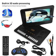 "Portátil 13.9"" HD LCD Reproductor DVD Estéreo 270° Giratorio TV Juego FM USB AV"