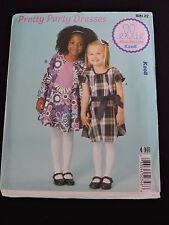 Pretty Party Dresses & Belt Sewing Pattern Ellie Mae Kwik Sew K208 XXS-L 3-10