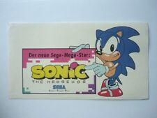 ORIGINALE 90er Sega Sonic The Hedgehog ADESIVI videogioco Sticker GAME GEAR NUOVO