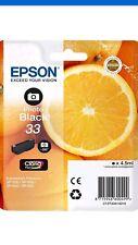 Genuine Epson XP-640 XP-645 Photo Black Ink Cartridge 33 orange
