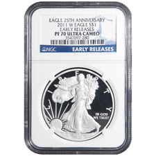 2011-W Proof $1 American Silver Eagle NGC PF70UC Early Releases
