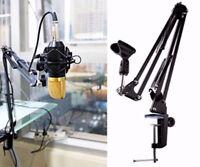 New Mic Arm Stand Microphone Suspension Boom Scissor Holder For Studio Broadcast