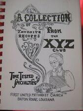 1973 Collection Favorite Recipe XYZ Club 1st United Methodist Church Louisiana