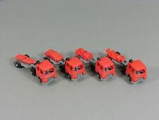 AUTOS: Transporter mit Auflieger EU 1987 - Komplettsatz rot/silber