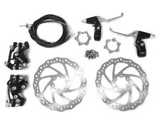 Front and Back Disk Brake Kit - 160mm for 80Cc Gas Motorized Bicycle