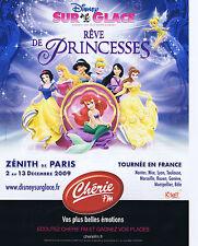 PUBLICITE ADVERTISING 094 2009 CHERIE FM présente Rêve de Princesses de Disney