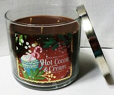 Bath & Body Works Hot Cocoa And Cream Large Candle 14.5 oz  3 Wick Chocolate jar