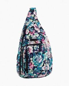 Vera Bradley | Iconic Sling Backpack | Cotton | Garden Grove | Blue Floral
