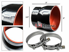 "BLACK 3""-2.5"" 76-63mm 3-ply Silicone Reducer Hose Turbo Intake Intercooler SB"