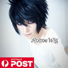 DEATH NOTE L Lawliet Black Short 30CM Cosplay Layered Wig Anime