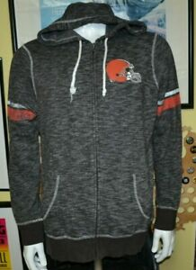 Cleveland Browns Retro Soft Full Zip Hoodie Jacket Sweatshirt XL Nice Football
