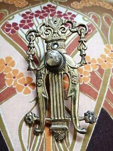 Original Antique Art Nouveau Brass bell push.