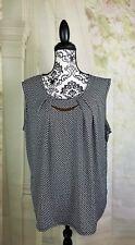 Mandy Evans womens sleeveless stretch knit top geometric print size 2x bb04
