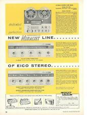 1961 Eico Reel-to-Reel RP-100W Tape Deck Kit Ad/ ST96 Tuner/ST70 Amp