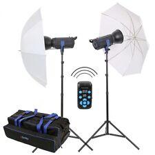 METTLE Studioblitz-Set MANHATTAN 600 (2x 300 WS) mit Stativ, Studioschirm Tasche