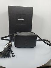 Saint Laurent YSL Embossed Logo Lou Adjustable Belt Bag, Black Leather - NEW