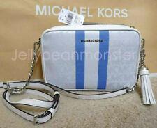 MICHAEL KORS Signature Monogram M Camera Bag Crossbody Bag Grecian Blue Multi
