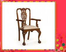 Solid Mahogany French Provincial Furniture Chandler Chippendale Arm Dining Chair