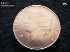 1977 25 escudos portugueses Liberty moneda en muy buen grado