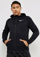 Nike Men's Dry Black/White Full-Zip Training Hoodie (860465-010) Sizes S/M/L/XL