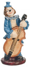 Ornamental Clown Playing Bass, Dolls House Miniature, Miniature Ornament