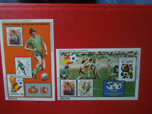 G2816 BOLIVIA   1982  WORLD  CUP  SOCCER     2  X   IMPERF S/S   MNH