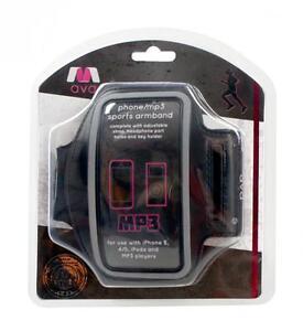 AVA RY728 Phone Case Armband Carry Strap iPhone 4/5 iPod MP3 Smartphone - Black
