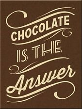Nostalgic-Art - Magnet 8x6 cm - Chocolate is the Answer