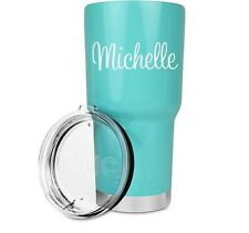 """3"""" Fancy Handwritten Personalized Decal Sticker for YETI RTIC OZARK Tumbler Cup"""