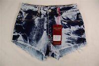 New Womens Judy Blue High Waist Shorts Cut Off Acid Wash Distressed Denim S,M,L