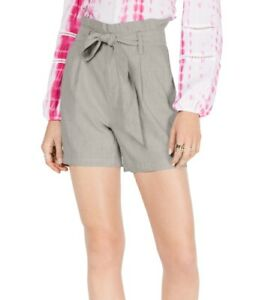 INC Women's Shorts Toad Beige Size XXL Plus Belted High Rise Paperbag $54 199