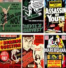 Vintage Anti-Marijuana Reefer Lot (6) 11 x 17 Reproduction Posters