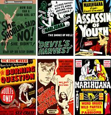 Vintage Anti-Marijuana Reefer Lot (6) 11 x 17 Reproduction Posters