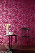 Sophie Conran Arthouse Pink Floral Flock Velvet Wallpaper (980509)