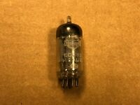 Vintage 1956 Mullard 12AU7 ECC82 Long Plate [] Getter Shield Tube Tests Good