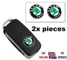 2x NEW Remote Key Fob Badge Emblem Sticker Logo for SKODA 14 mm /-15-/