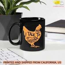 I Talk To My Chickens - Funny Farmer Farm Animal Chicken coffee mug