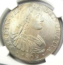 1809 Mexico Ferdinand VII 8 Reales Coin (8R) - NGC Uncirculated Detail (UNC MS)