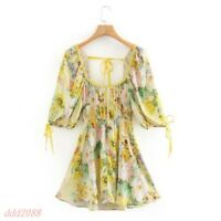 French Style Dresses SUMMER long Dress Floral V-neck sexy womens FASHION SIZE US