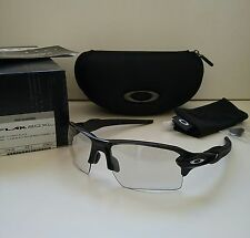 New OAKLEY FLAK 2.0 XL Black w/ Clear Black PHOTOCHROMIC Sunglasses jacket half