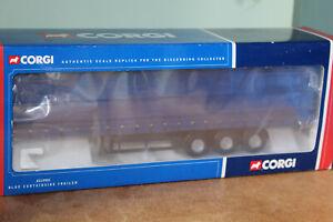 CORGI CLASSICS 1:50 BLUE CURTAINSIDE TRAILER CC19901