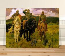 "Classical Medieval Fine Art ~ CANVAS PRINT 36x24"" ~ Vasnecov-Bogatyri"