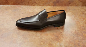 New! Magnanni 'Walden' Apron Toe Penny Loafers Black Leather Mens 12 M MSRP $365