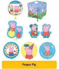 Globos de fiesta redondos de cumpleaños infantil de Peppa Pig