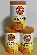 (3)MetaMucil Daily Fiber 14 DAY CLEANSE powder 6.1oz~Citrus Ex-01/21 SUGAR FREE!