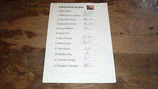 The Png Papua New Guinea Rugby Union 7s Team Hand Signed 2011 Team Sheet