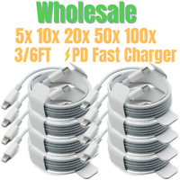 Wholesale 3/6Ft Lot USB C to iPhone Cable PD Fast Charge Cord For Apple 12 11 8