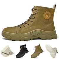 38-46 Herren Schneesitefeletten Leder Ankle Boot Sneaker Armee Gefüttert Camping