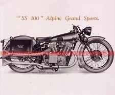 BROUGH SUPERIOR SS 100 à moteur JAP 1000 1924 Fiche Moto 000009